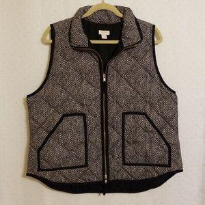 J Crew | Quilted Herringbone Vest